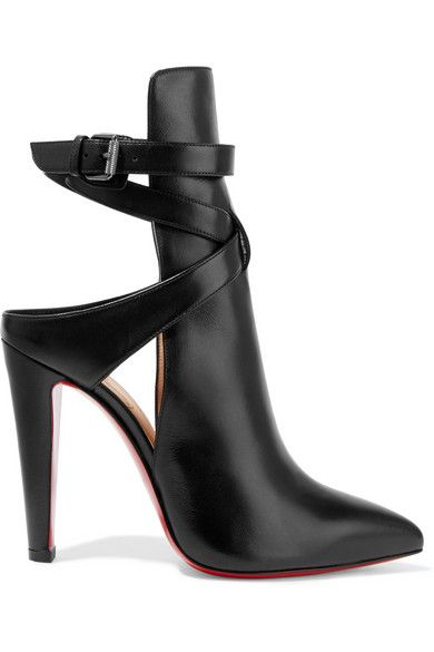 Heel measures approximately 100mm/ 4 inches Black leather Buckle-fastening ankle strap Made in Italy Small to size. See Size & Fit notes.