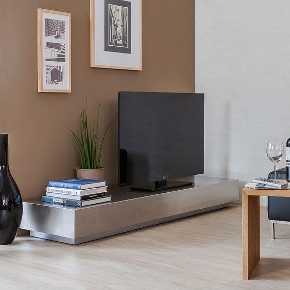 TV-Lowboard Crown - Edelstahl Silber gebürstet SALON Pinterest - design ideen fur wohnungseinrichtung belgrad aleksandar savikin