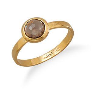 Smoky Quartz Stackable Ring