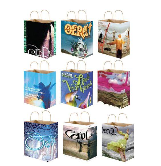 Tassen gemaakt van Oerol posters.
