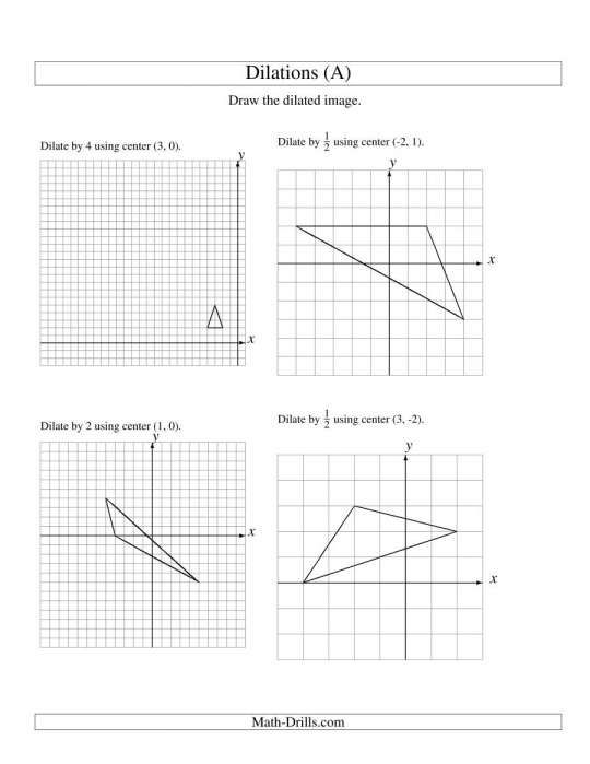 7 Dilation Math Worksheet 8thgrademathdilationworksheet