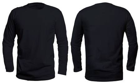 Download Blank Long Sleve Shirt Mock Up Template Front And Back View Isolated On White Plain Black T S Plain Black T Shirt Black Long Sleeve Shirt Long Sleeve Shirts