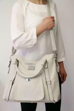 Huntington Handbag - Light Gray