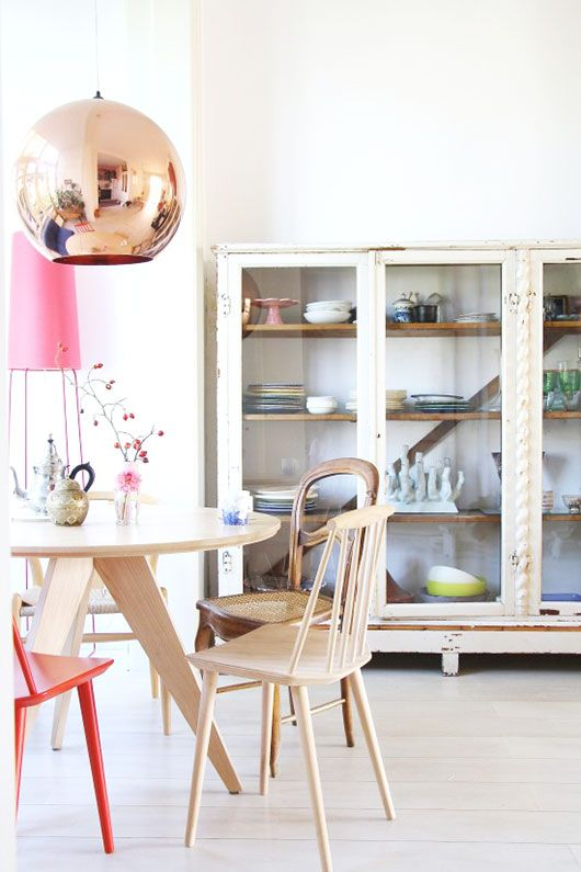 Cool mix of modern and vintage: