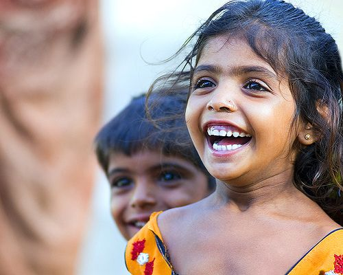 A beautiful girl from India. :)