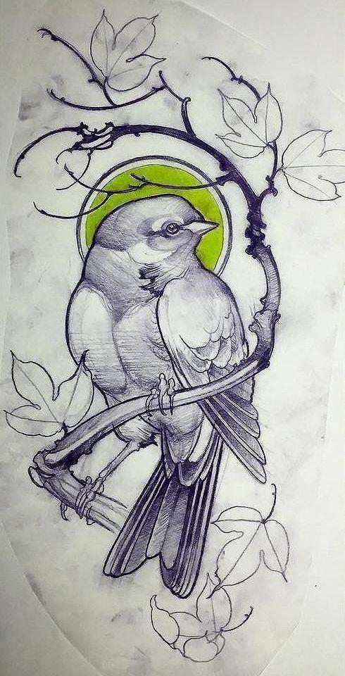 Bird Tattoo Design In 2020 Bird Drawings Tattoo Design Drawings Bird Sketch
