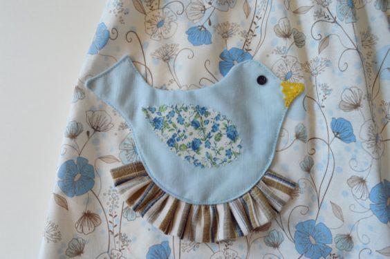 Pretty Bird Pocket Easter Dress Pattern PDF. by RubyJeansCloset