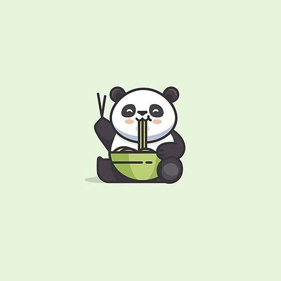 """Spaghetti Panda (boil boil Ramen) logo idea design made by @cpuentesdesign…"