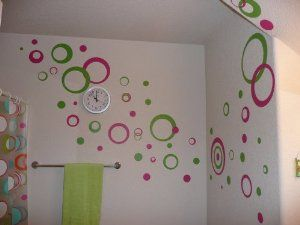 Wall Circle Stickers ~ These are made with top-of-the-line INDOOR MATTE finish wall vinyl.  This vinyl will not harm your painted or wallpapered walls.  They are easily removable just by peeling them off.  The matte finish makes them like a beautiful paint job!  The Wall Circles work well on textured walls also.  Detailed application instructions included with order.  At application the backing gets peeled off and the circle gently placed on the wall, then firmly rubbed.