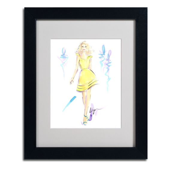 Lemon Meringue High by Jennifer Lilya Matted Framed Painting Print
