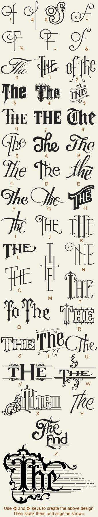 hand drawn typography by lara