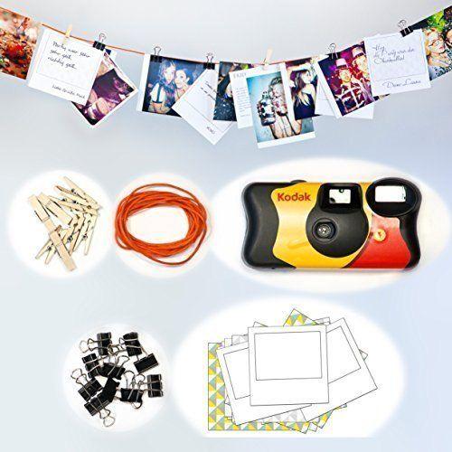 Fotos und Grußkarten - Die Fotoleine ist der Hit auf jeder Party und ein kreatives Geschenk! Mit der Fotoleine inklusive Einwegkamera schaffst Du wunderschöne Erinnerungen.