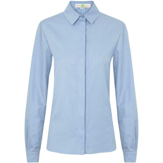 Stella McCartney Herringbone Cotton Shirt ($580) ❤ liked on Polyvore