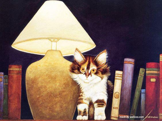 Lowell Herrero chat américain Art Peintures 1024 * 768 NO.4 Wallpaper