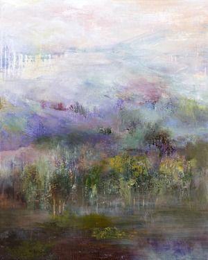 "Saatchi+Online+Artist+Rikka+Ayasaki;+Painting,+""In+Switzerland+(Painted+in+2012,+46x55cm)+""+#art"