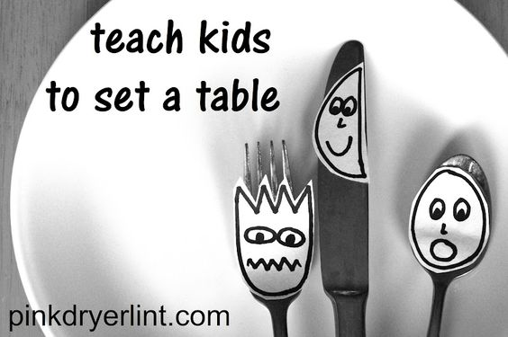 A clever and quick way to teach kids how to set a table.