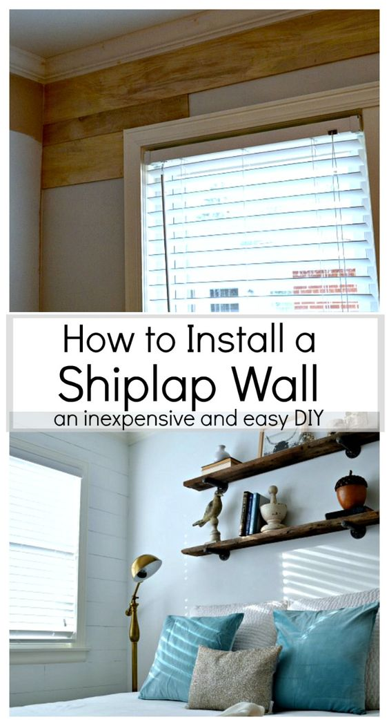 How to install a shiplap wall home planked walls and - How to install shiplap on interior walls ...