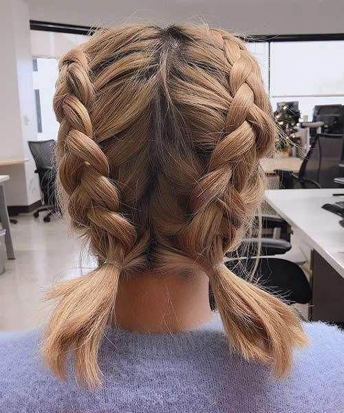 Double Dutch Braids Hairbraids Braids For Short Hair Medium Hair Styles Short Hair Updo