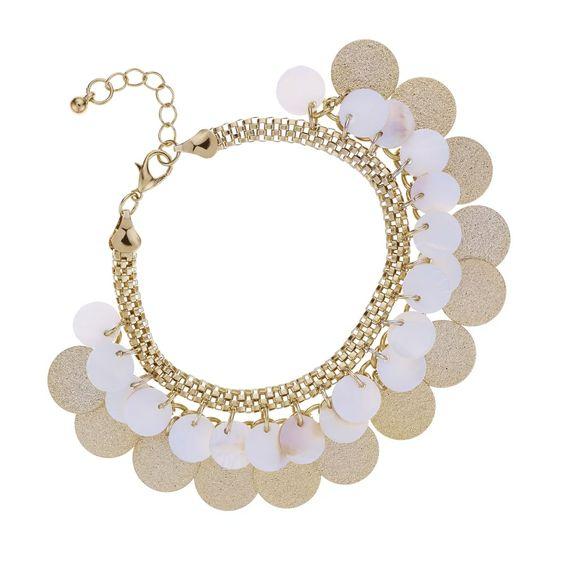 Mood Shell layered disc bracelet
