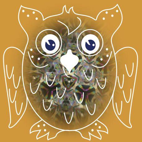 'Kaleidoscope Owl' von funkyzoo bei artflakes.com als Poster oder Kunstdruck $16.63