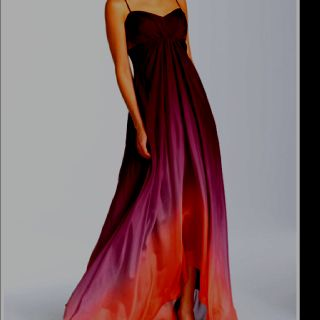 Purple orange ombre dress colorful confidence for Purple ombre wedding dress