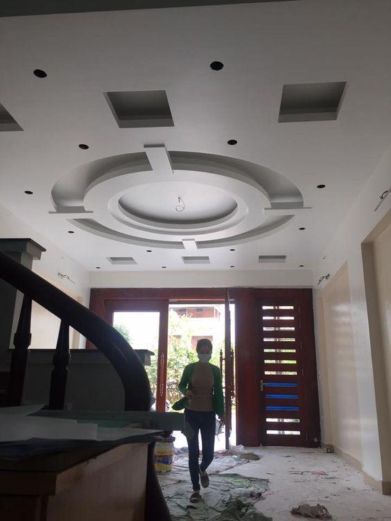 60 Mẫu trần thạch cao phòng khách đẹp nhà ống, chung cư, biệt thự 2019