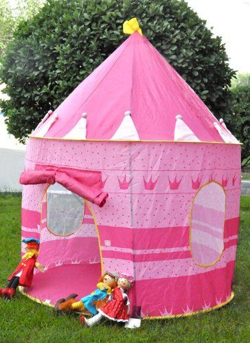 pink princess pop up castle play tent for girl. Black Bedroom Furniture Sets. Home Design Ideas