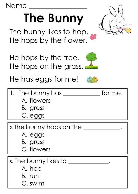 Toddler Worksheets Reading | Learning Printable