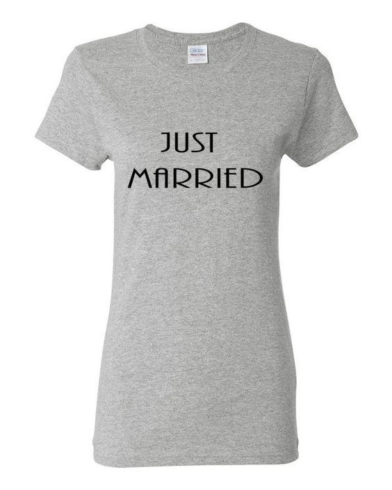 Women's short sleeve t-shirt Just Married