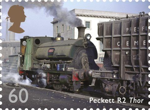 Classic Locomotives of England.               Issued Feb 2011.                                          Peckett R2 Thor.                                            This Peckett 1689, named Thor was built in 1925 for the Tunnel Cement Co. Of Purfleet, Essex. Compact, powerful and rugged, industrial locomotives were the aa-purpose workhorses of plants such as Tunnel Cement and many were used for several decades .