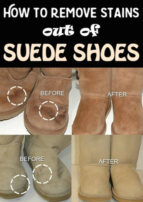 how to remove stains out of suede shoes