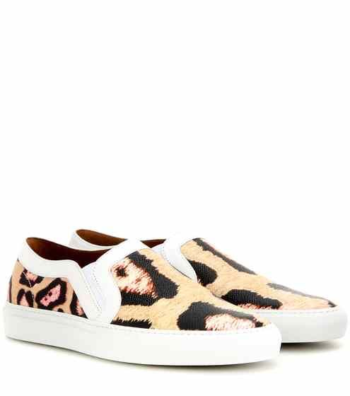 Printed leather slip-on sneakers   Givenchy