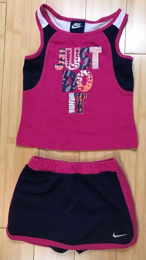 Nike Tank Top Skort Tennis Skirt Outfit Set Kids Toddler Girls 3t Blue Pink Fashion Clothing Shoes Access Tennis Skirt Outfit Girl Outfits Tennis Skirt