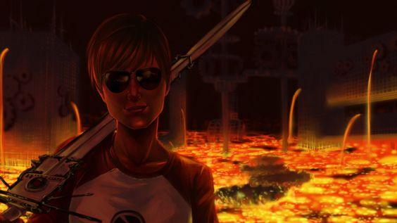 Dave Strider in the Land of Heat and clockwork by EiraQueenofSnow.deviantart.com on @deviantART