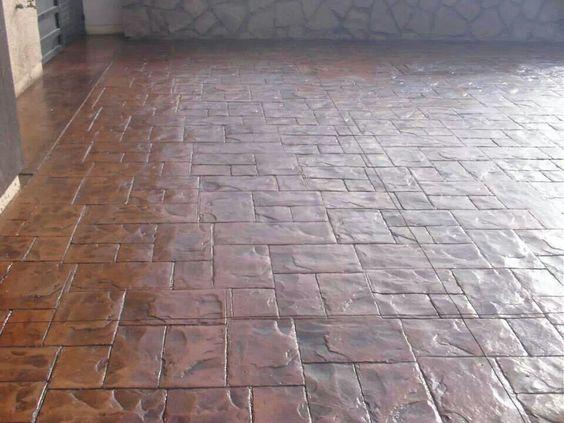 Piso de cemento para porche pisos pinterest for Pisos ceramicos para garage