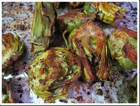 Roasted baby artichokes. So good and so easy! Via A Foodie in Europe