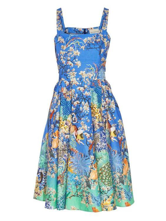 Mary Katrantzou Mara printed dress