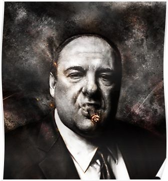 The Sopranos Tony Soprano Poster Sopranos Artwork Sopranos Poster Tony Soprano Poster