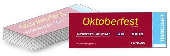 Die personalisierten #Eintrittskarten von #onlineprintxxl #hüttengaudi #wiesenfest #massbier #wiesn #lebkuchenherzen