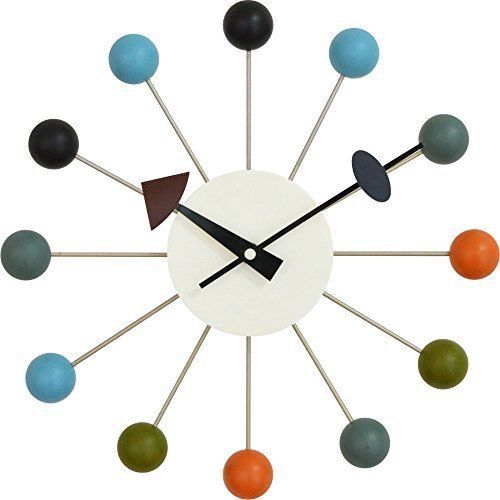 George Nelson Wall Clock Ball Mid Century Northern Europe 33cm NEW