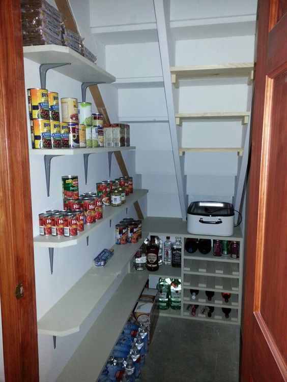 Awesome understairs pantry!