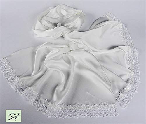 Wide Long Wrap White Silk Scarf Handmade From 100 Pure S Https Www Amazon Com Dp B0829k1k4x Ref Cm Sw R Scarf Women Fashion White Silk Scarf Scarf Styles