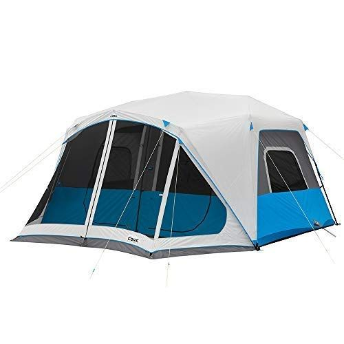 Amazon Com Core Lighted 10 Person Instant Cabin Tent With Screen Room Sports Outdoors With Images Cabin Tent Tent Instant Tent
