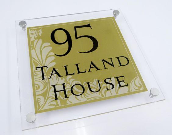 House address sign number 39 95 39 delightful 39 olive 39 39 art 39 decorative sign name sign ideas - Decorative house number signs ...