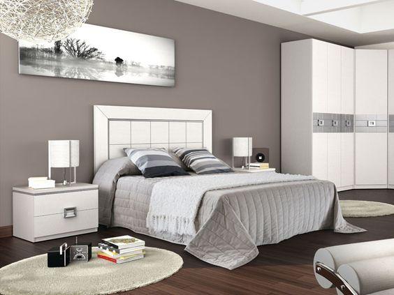 Dormitorios matrimonio blanco y plata inspiraci n de for Muebles blancos dormitorio matrimonio