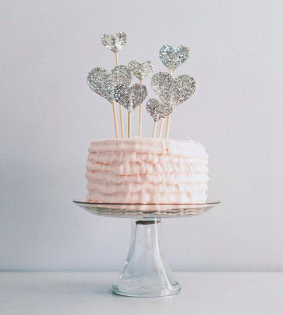 Glitter Cake Toppers   Bride Ideas