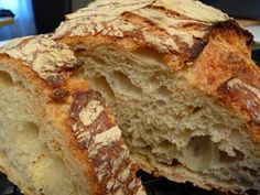 selbstgebackenes bauernbrot - no knead German bread (dutch oven)  Recipe in German