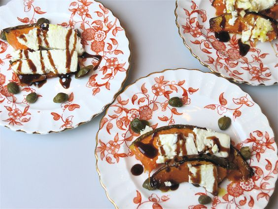 Antipasti of Pumkin, cheese and caperi