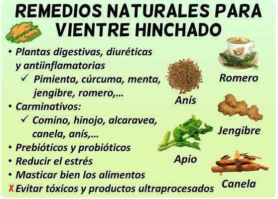 medicina natural para bajar de estomago