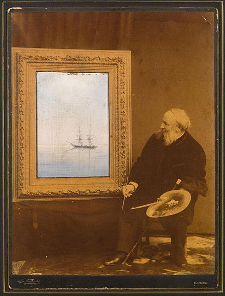 File:Ivan Aivazovsky portrait with painting.jpg: